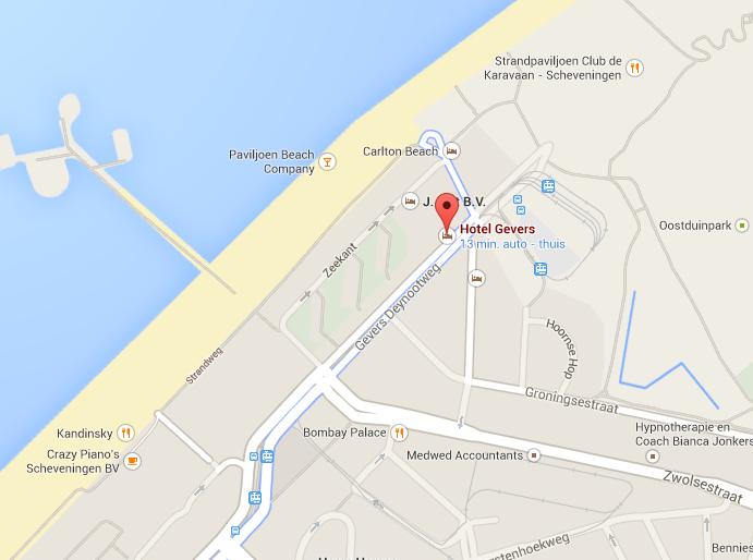 Kaart Plattegrond Hotel Gevers